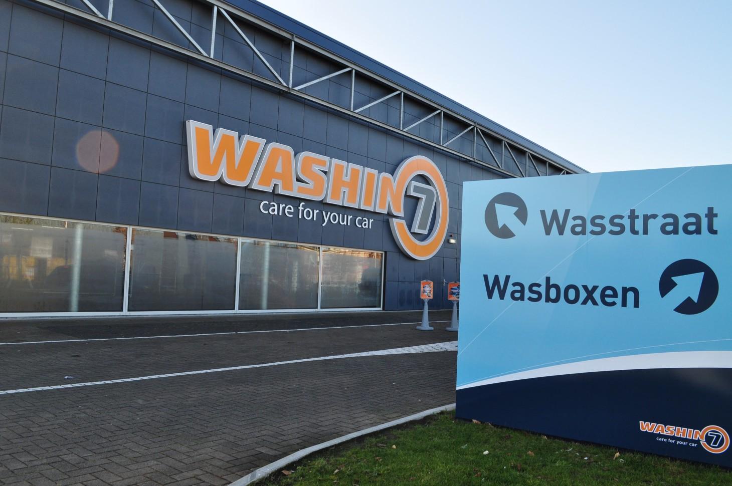 VIZIO Washin7 buitenreclame wandprint signing gevelreclame full color print