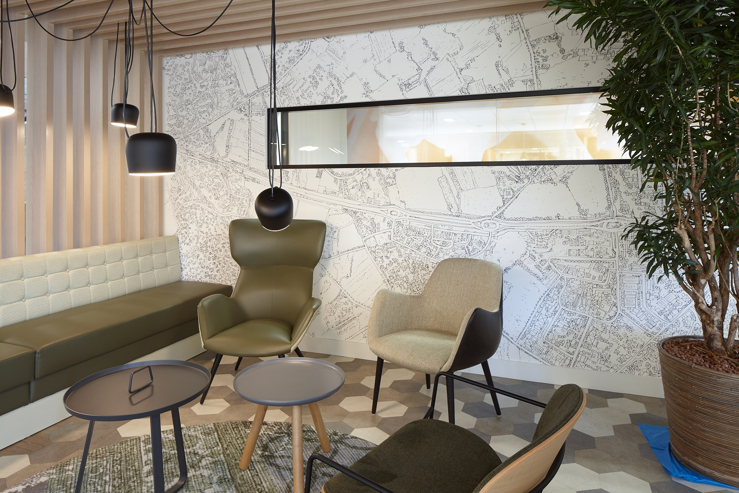 wandprint wallcovering airtex glasfolie clearview witprint interieur signing print VIZIO